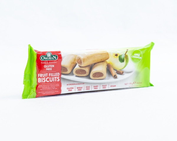 Fruit filled biscuits Apple Cinnamon Orgran