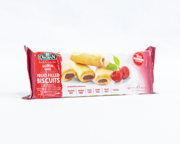 Fruit filled biscuits Wild Raspberry Orgran